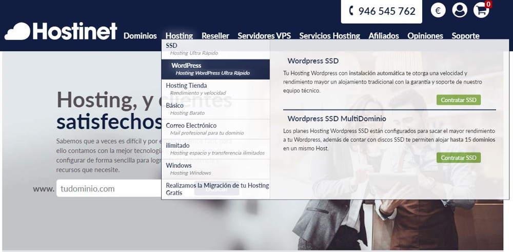 Hosting para tu página web