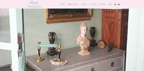 Antigüedades Ottocento-Página web
