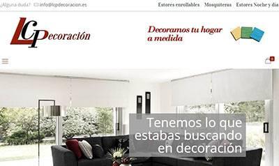 Tienda online de decoración, con estores y mosquiteras
