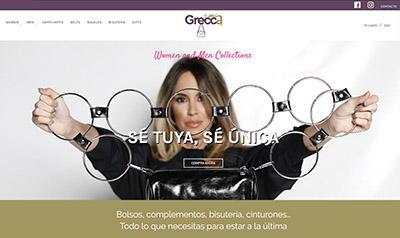 Página web de Grecca By Mia, tienda online de bolsos y complementos